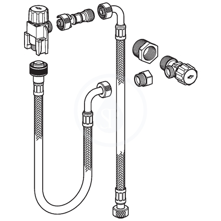 Geberit Souprava pro připojení sanitárního modulu Monolith pro WC, H114 131.012.00.1