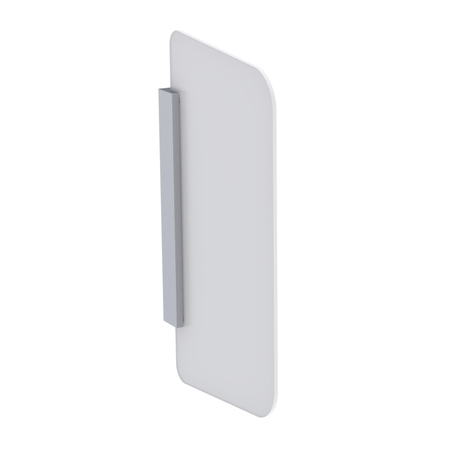 Geberit Příslušenství Pisoárová dělící stěna, hranatá, bílé sklo, bílá 115.211.TD.1
