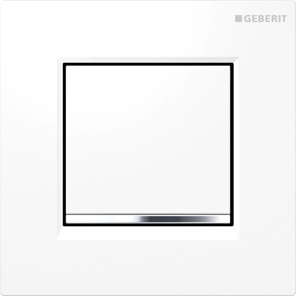 Geberit Splachovací systémy Pneumatické ovládání splachování pisoárů Typ 30, bílá/pochromovaná lesklá/bílá 116.017.KJ.1