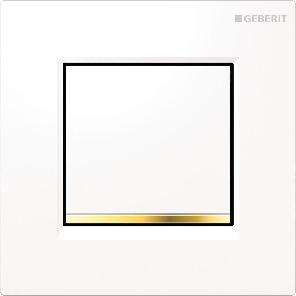 Geberit Splachovací systémy Pneumatické ovládání splachování pisoárů Typ 30, bílá/pozlacená/bílá 116.017.KK.1