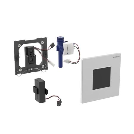 Geberit Splachovací systémy Elektronické ovládání splachování pisoárů Typ 30, napájení z baterie, bílá/pochromovaná lesklá/bílá 116.037.KJ.1