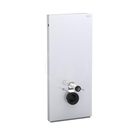 Geberit Monolith Sanitární modul pro závěsné WC s přímým hrdlem, černé sklo/hliník, výška 114 cm 131.031.SJ.5