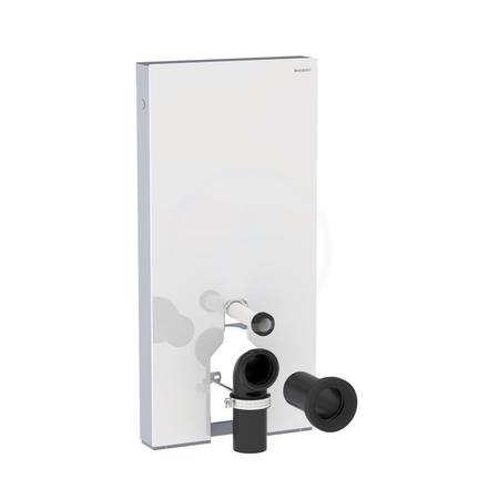 Geberit Monolith Plus Sanitární modul pro stojící WC, 101 cm, s připojovacím kolenem, bílé sklo 131.201.SI.5