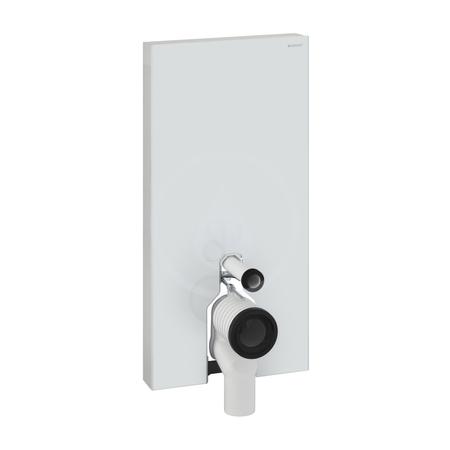 Geberit Monolith Plus Sanitární modul pro stojící WC, 101 cm, s P-kolenem, bílé sklo 131.202.SI.5