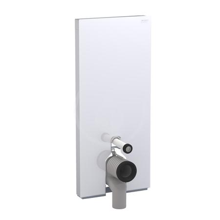 Geberit Monolith Plus Sanitární modul pro stojící WC, 114 cm, s P-kolenem, černé sklo 131.233.SJ.5