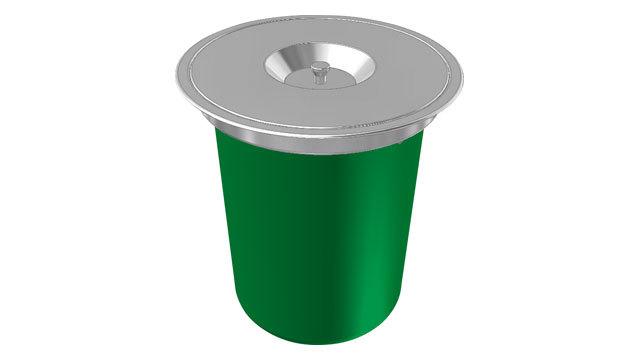 Franke KEA Vestavný koš E 12, zelený 134.0035.042