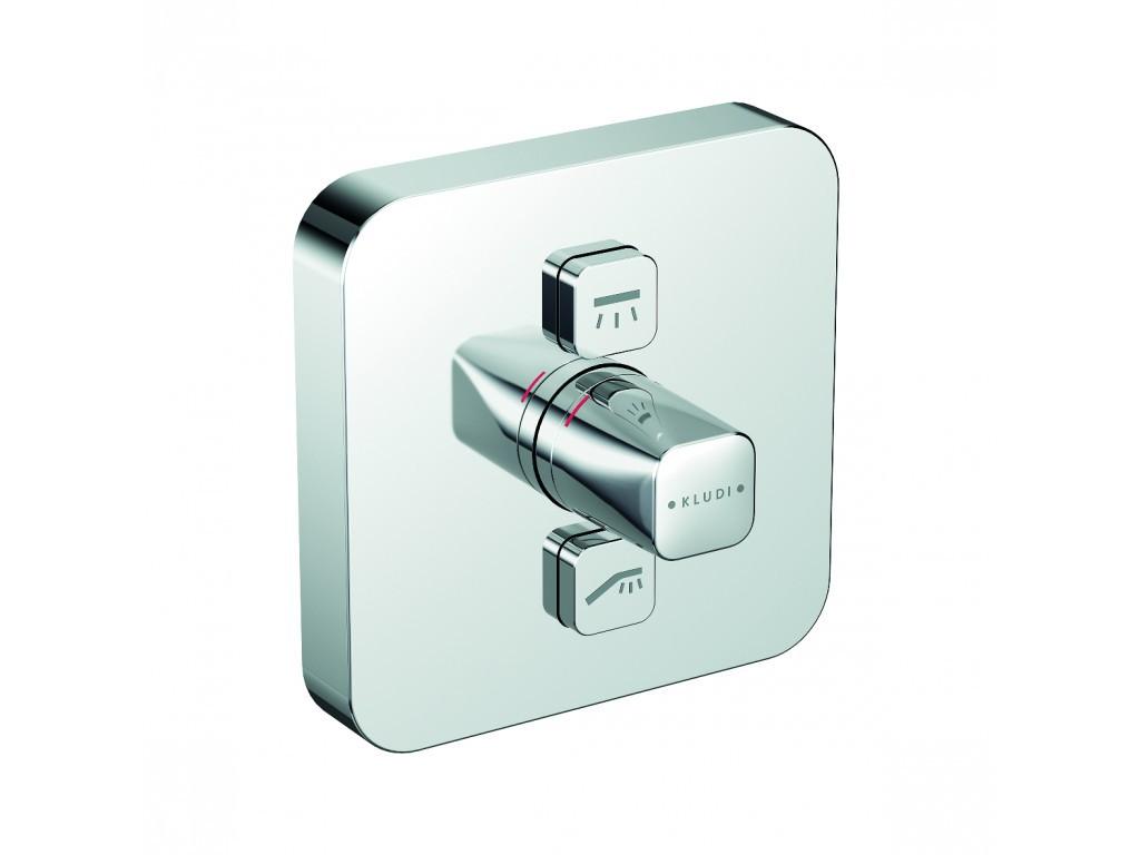 Kludi Push Termostat pod omítku pro 2 spotřebiče, chrom 386110538