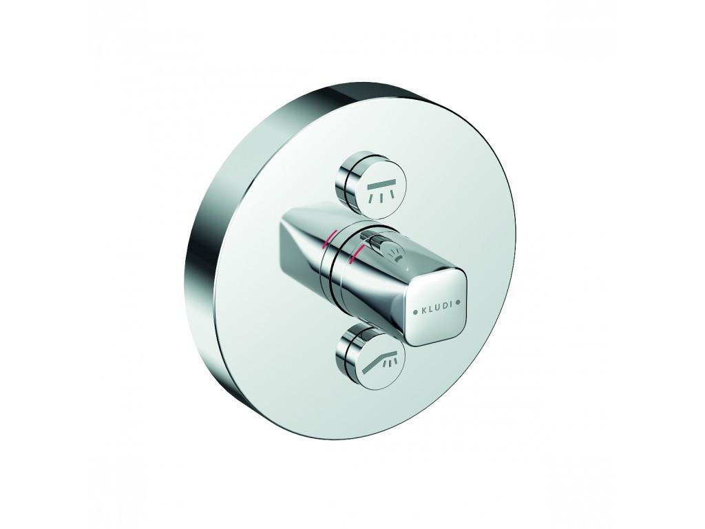 Kludi Push Termostat pod omítku pro 2 spotřebiče, chrom 386120538
