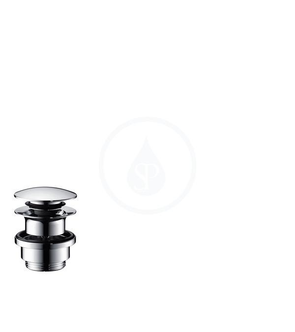 Hansgrohe Odtokové systémy Odtoková souprava Push-Open s táhlem pro umyvadlové a bidetové baterie, vzhled nerezoceli 50100800