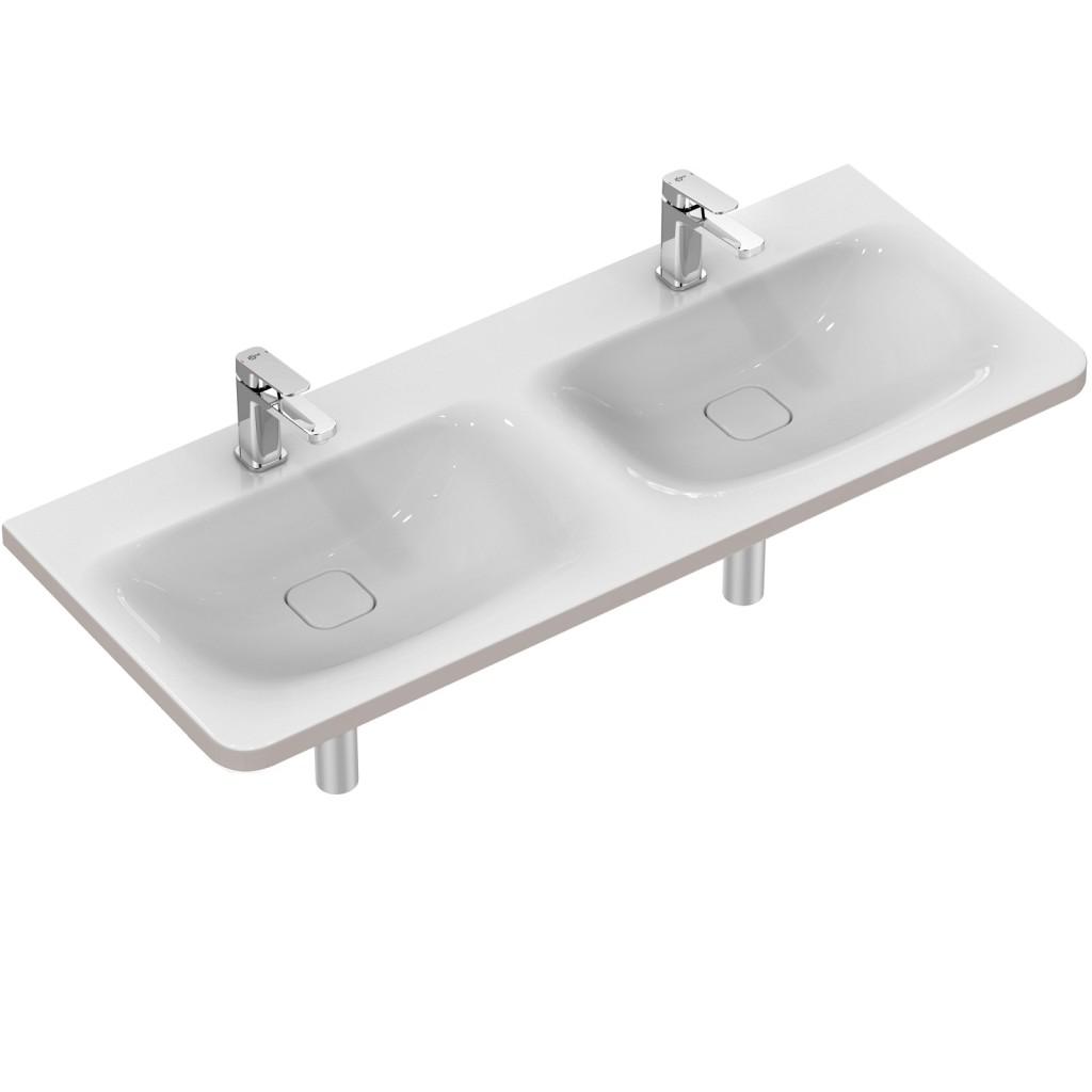 Ideal Standard Tonic II Nábytkové dvojumyvadlo 1215 x 490 x 170 mm, bílá K087301
