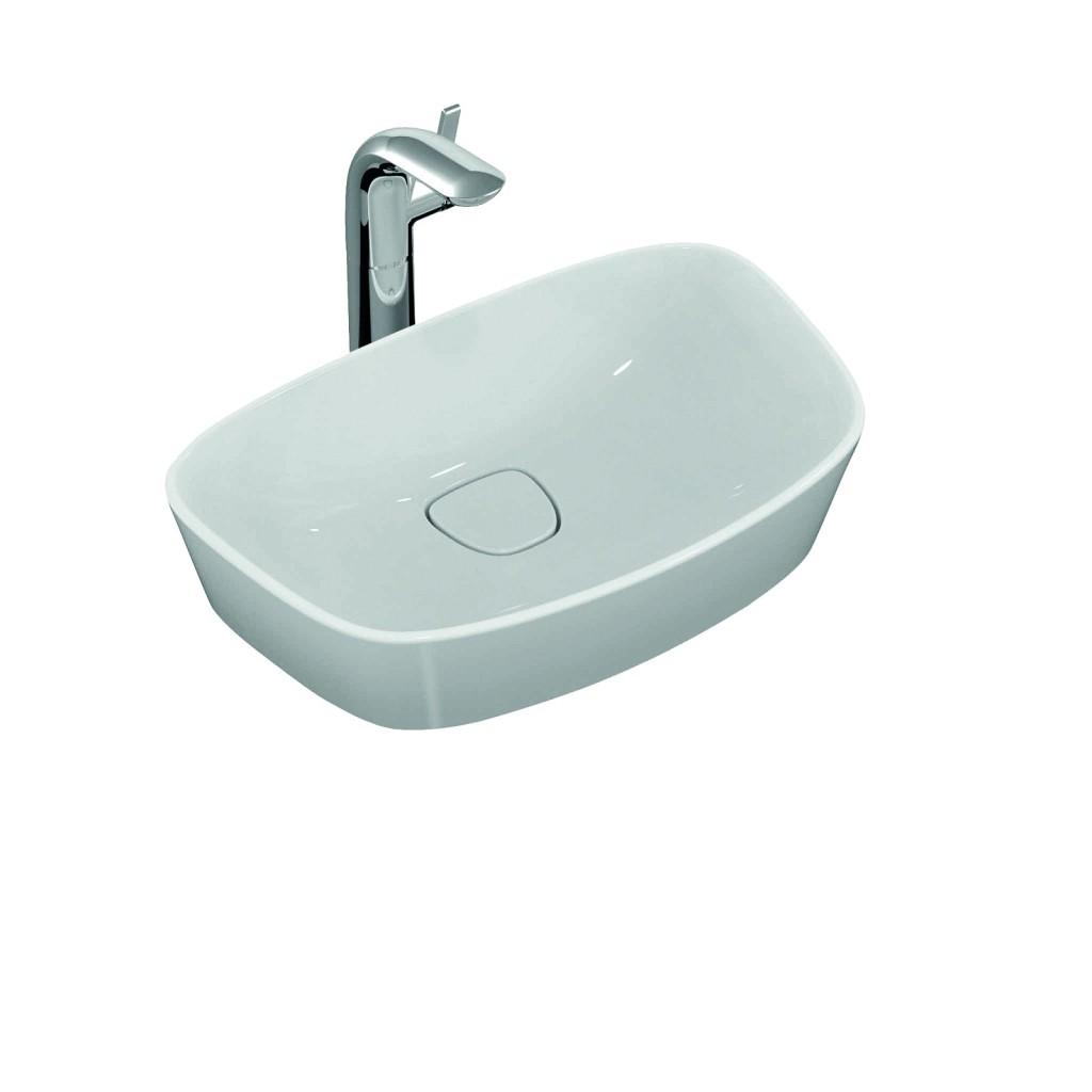 Ideal Standard Umyvadlo na desku 520 x 330 x 160 mm, bez otvoru, s Ideal Plus, bílá T0443MA