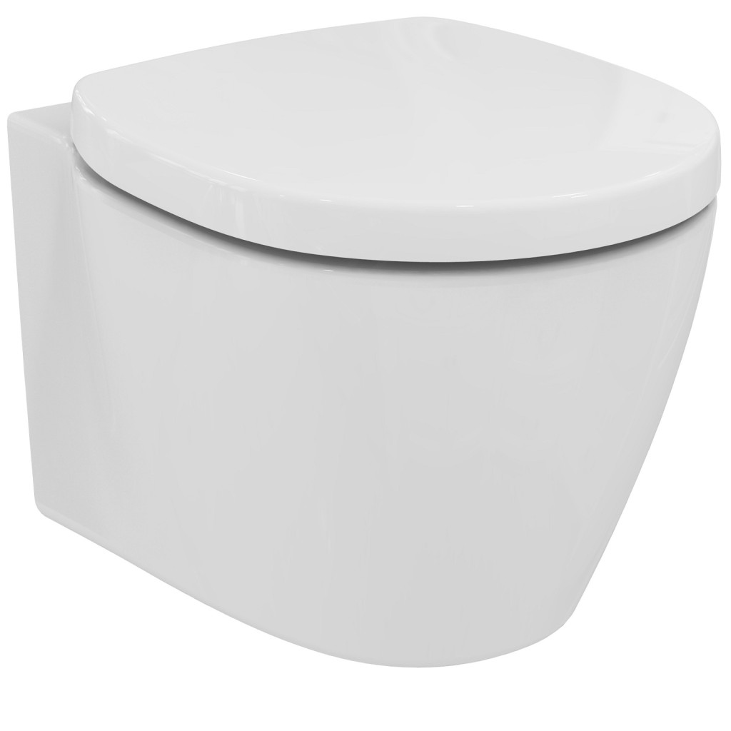Ideal Standard Connect Space Závěsný klozet 340 x 365 x 480 mm, se skrytým upevněním, s Ideal Plus, bílá E1217MA
