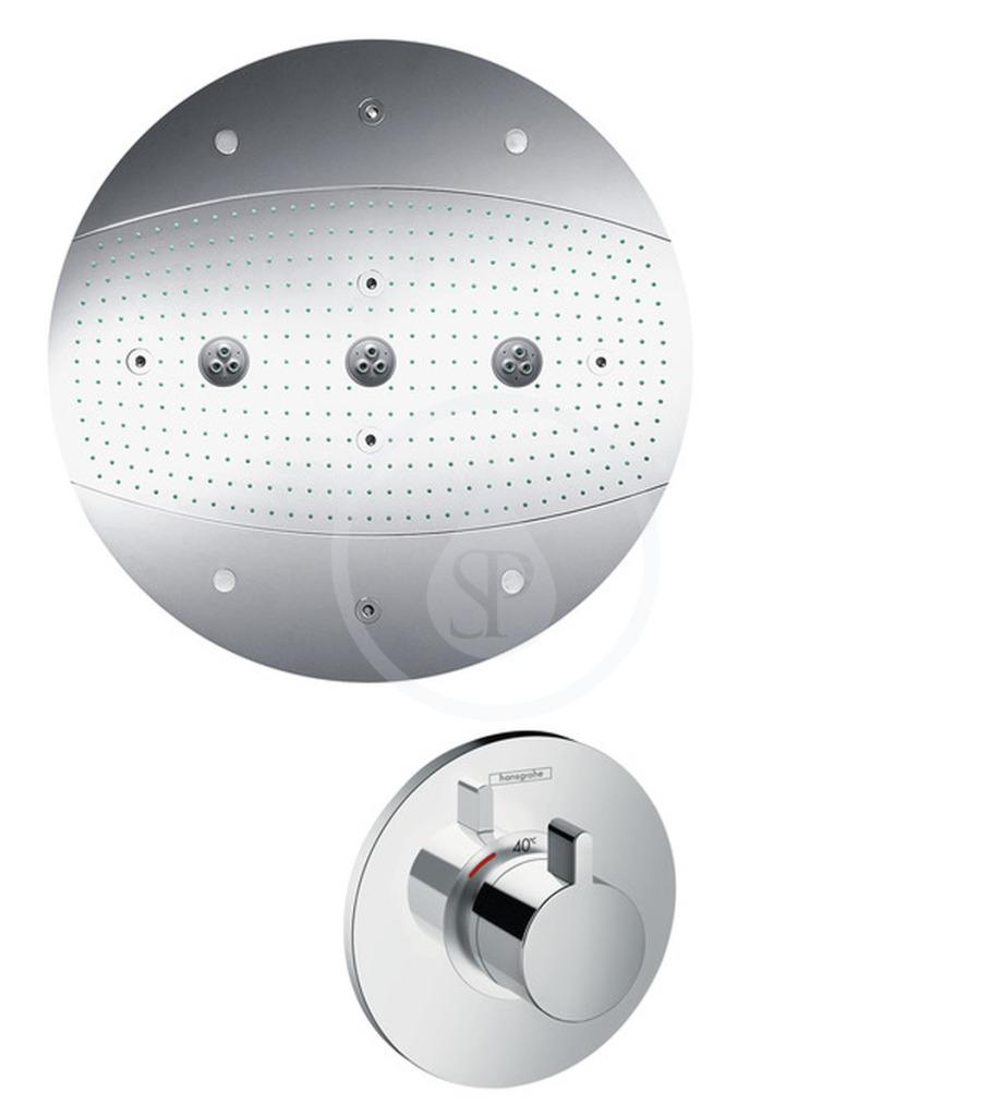 Hansgrohe Raindance Sada horní sprchy průměr 600 mm Air 3jet s osvětlením, chrom 28404000
