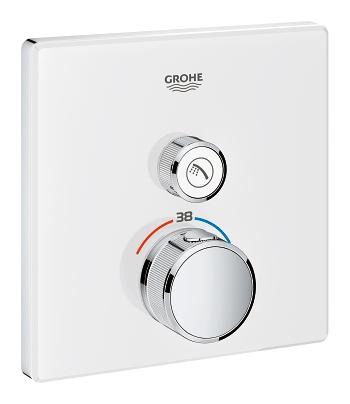 Grohe Grohtherm SmartControl Termostatická sprchová baterie pod omítku s jedním ventilem, měsíční bílá 29153LS0