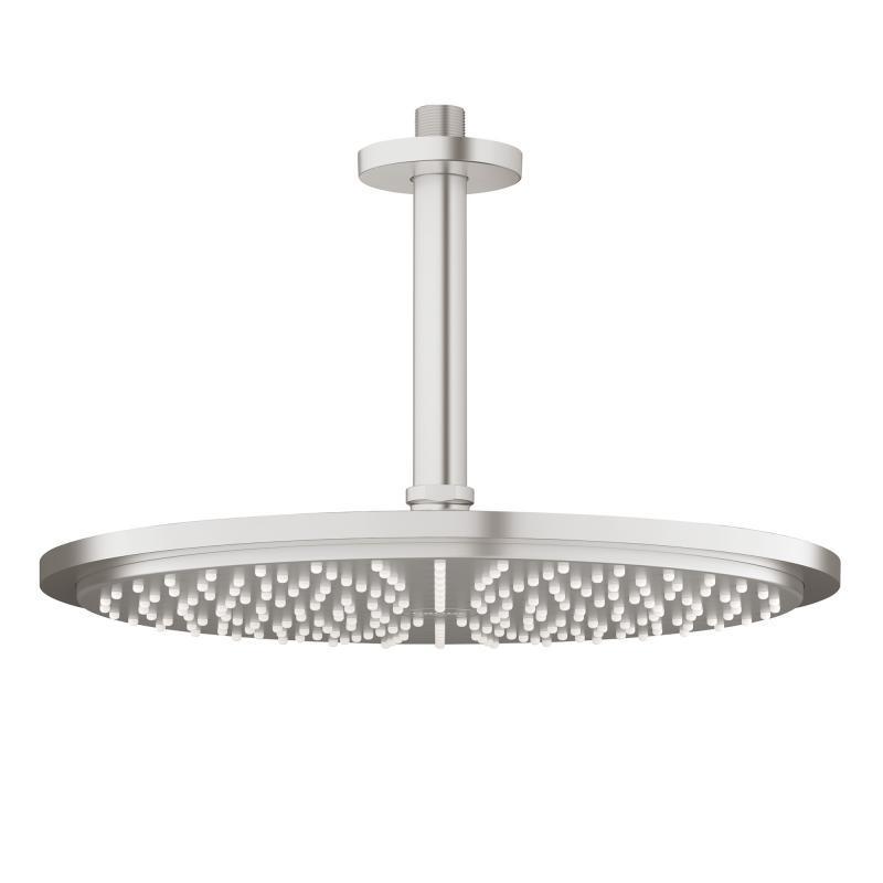 Grohe Rainshower Hlavová sprcha Cosmopolitan, průměr 310 mm, stropní výpusť 142 mm, supersteel 26067DC0