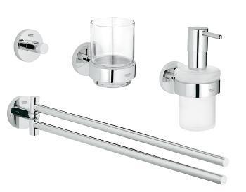 Grohe Essentials Sada doplňků do koupelny 4 v 1, chrom 40846001