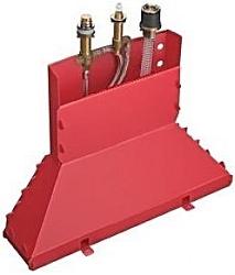 Hansgrohe Montážní tělesa Základní těleso tříotvorové vanové pákové baterie na okraj vany 13437180