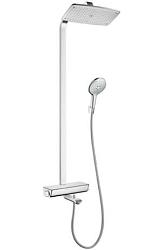Hansgrohe Raindance Select E 360 1jet Showerpipe pro vanu, bílá/chrom 27113400
