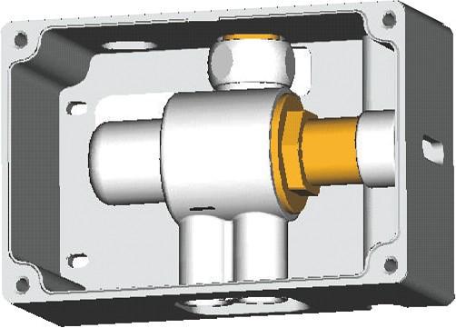 Ideal Standard CeraPlus Termostatický připojovací box pro směšování teploty (univerzální použitelný se všemi sensorovými bateriemi), neutrální A3813NU
