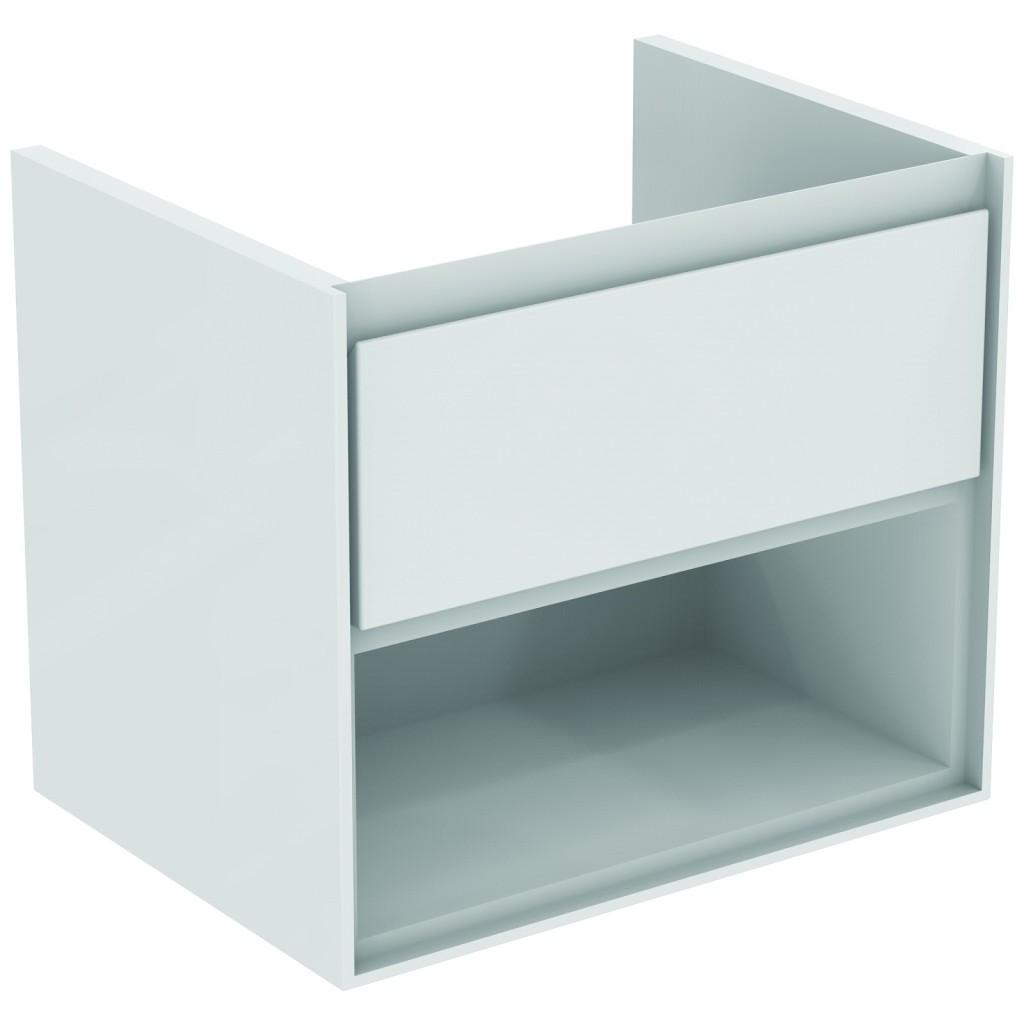 Ideal Standard Connect Air Skříňka pod umyvadlo 60 cm, 517 x 600 x 440 mm, 1 zásuvka, lesklý světlý šedý lak E0826EQ
