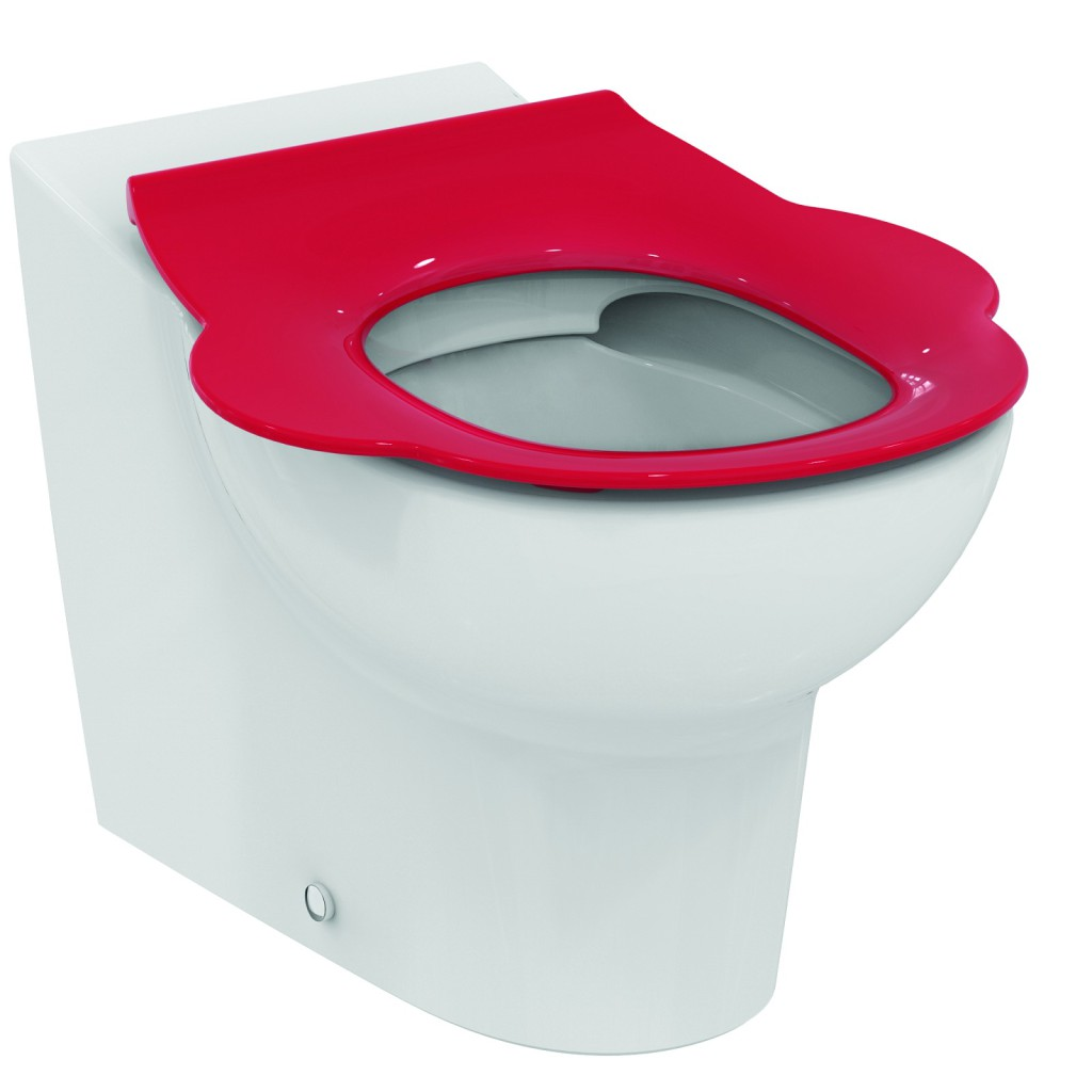 Ideal Standard Contour 21 WC sedátko dětské 3-7 let (S3123) bez poklopu, červená S4542GQ