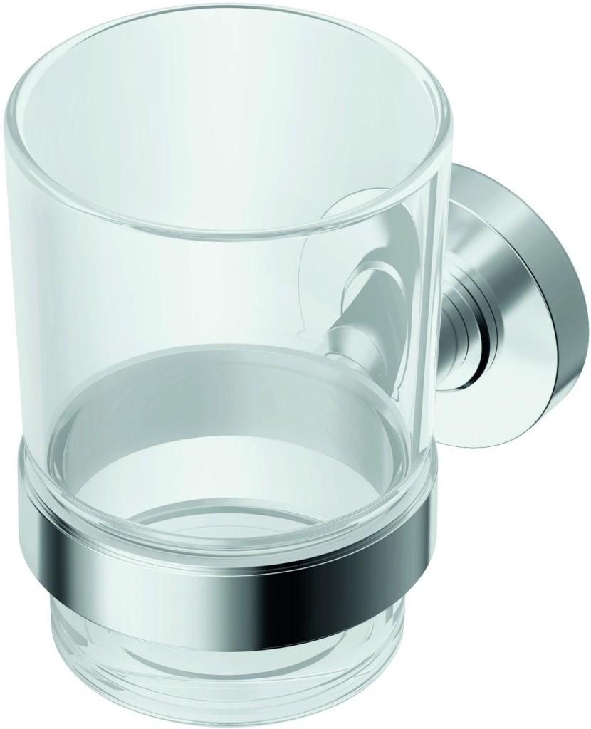 Ideal Standard IOM Kelímek na zubní kartáček, čiré sklo, chrom A9121AA