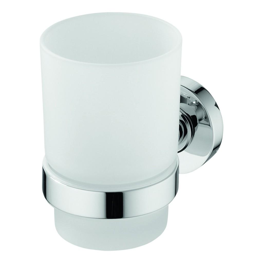 Ideal Standard IOM Kelímek na zubní kartáček, satinované sklo, chrom A9120AA
