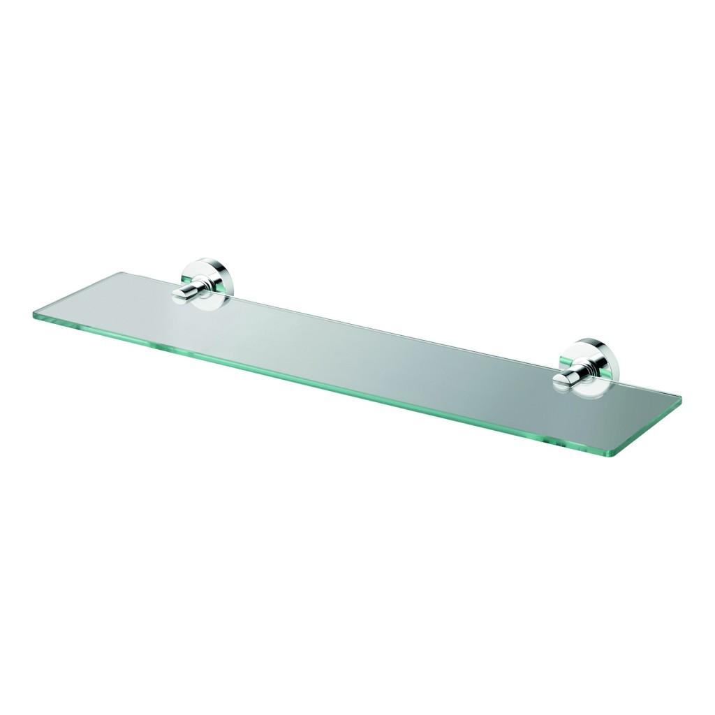 Ideal Standard IOM Skleněná polička 520 x 138 x 48 mm, čiré sklo, chrom A9125AA