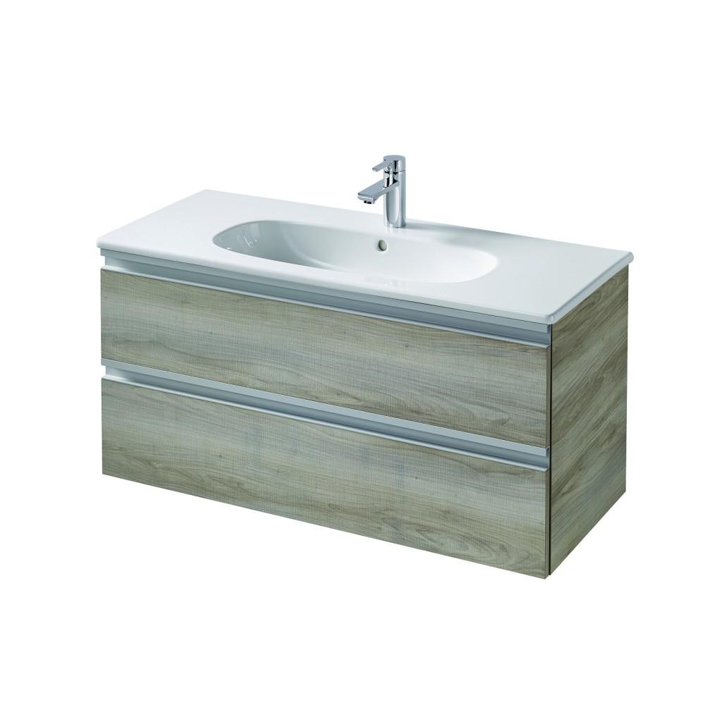 Ideal Standard Tesi Skříňka pod umyvadlo 1000 x 440 x 490 mm, 2 zásuvky, dekor sv. dřevo T0052VI