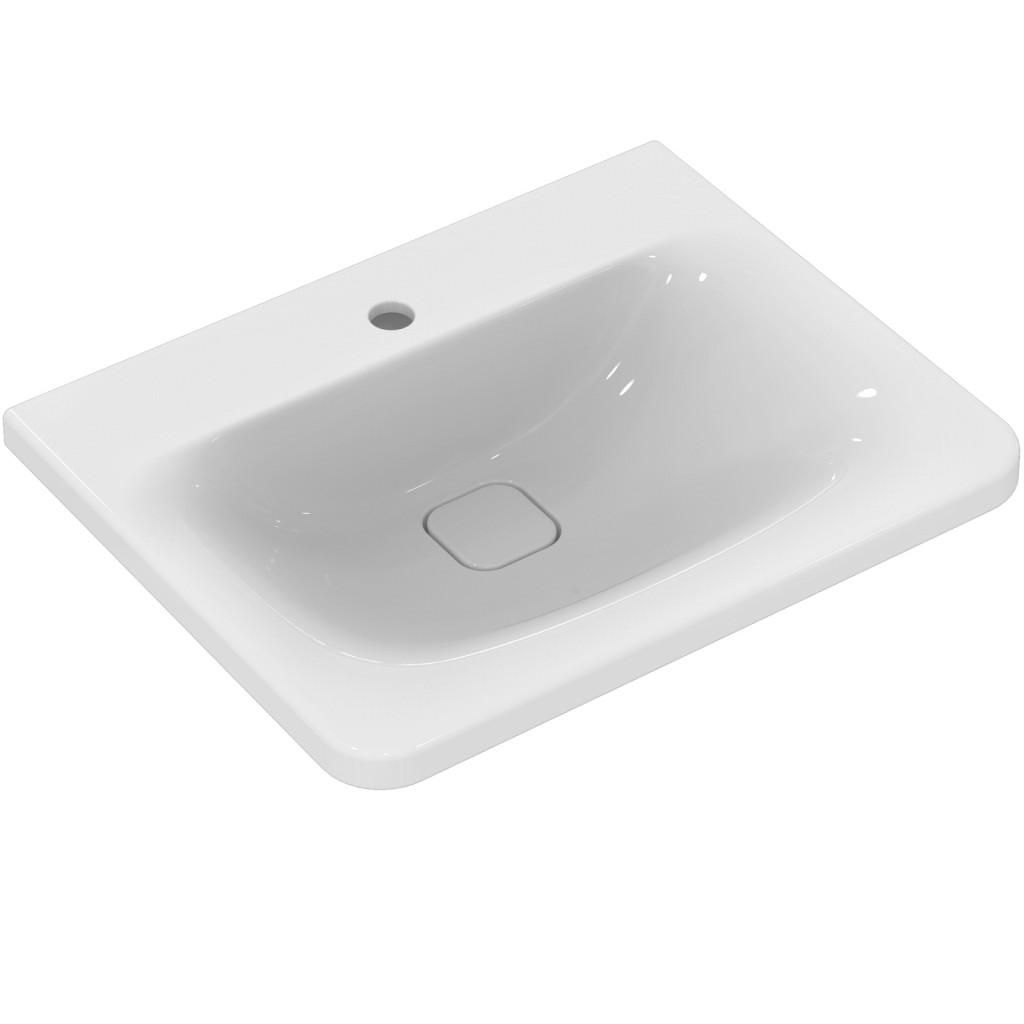Ideal Standard Nábytkové umyvadlo 615 x 490 x 170 mm, bílá, pro kombinaci s umyvadlovou skříňkou Tonic II, bílá K083701