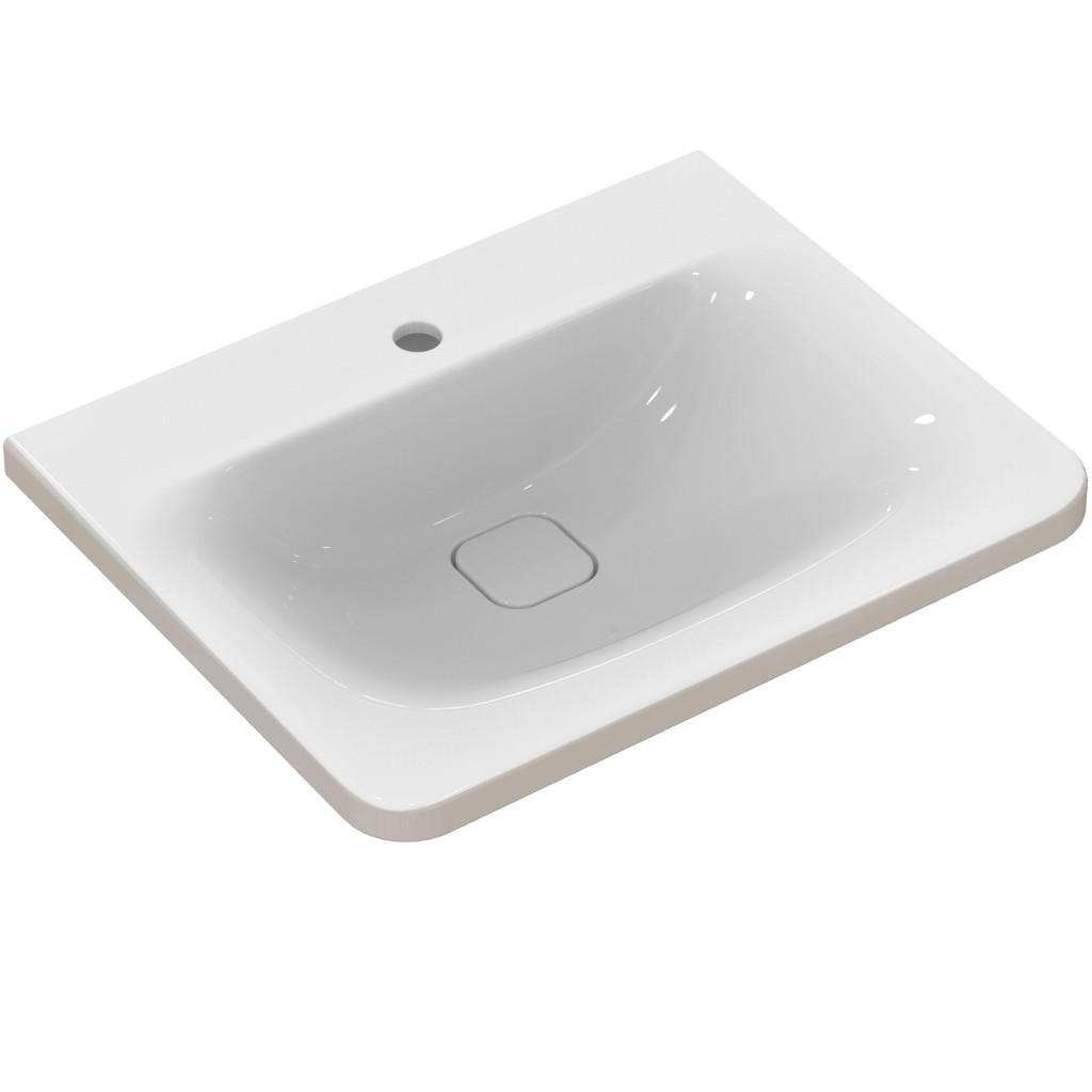 Ideal Standard Nábytkové umyvadlo 615 x 490 x 170 mm, pro kombinaci s umyvadlovou skříňkou Tonic II, bílá s Ideal plus K0837MA