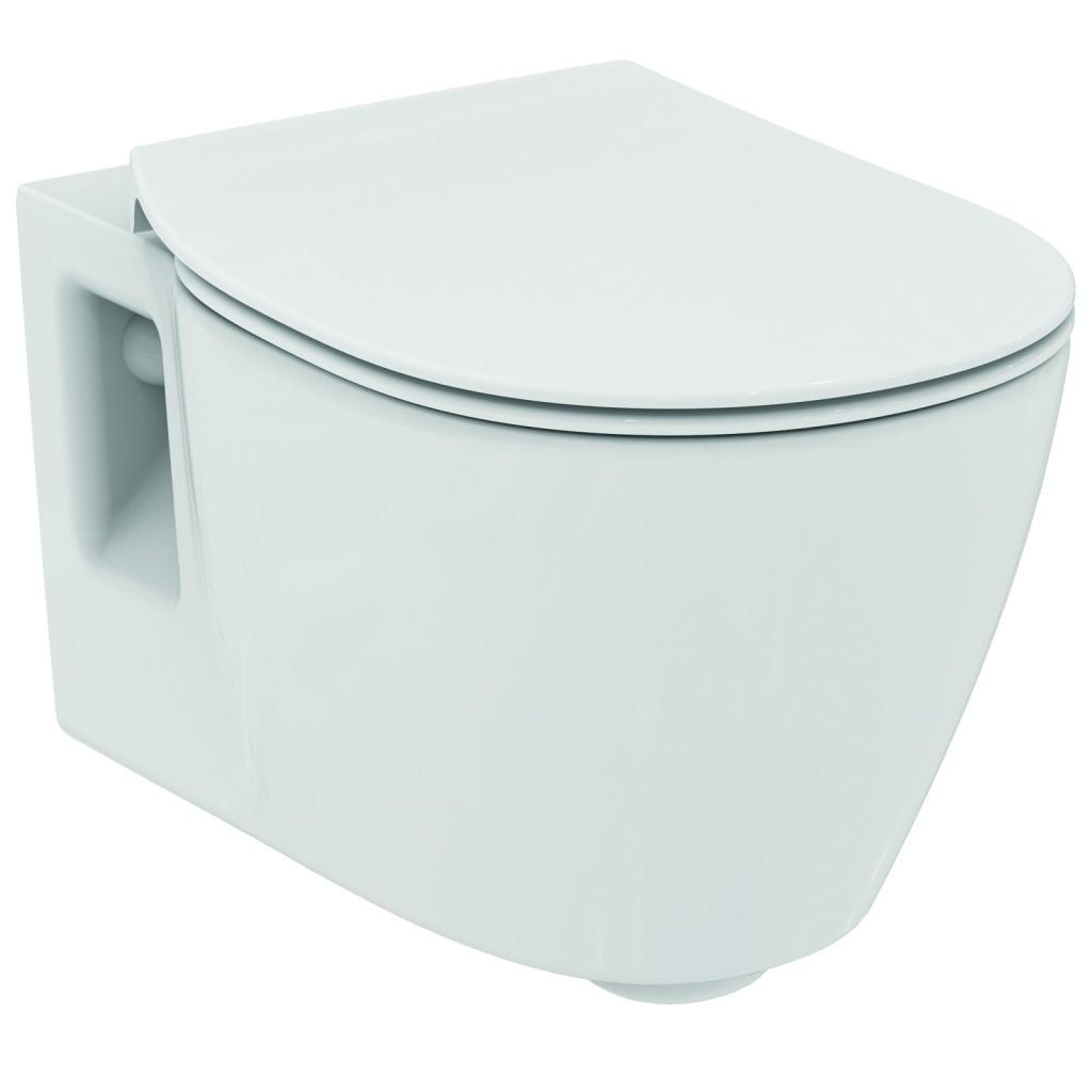 Ideal Standard Connect Závěsný klozet 340 x 360 x 540 mm, (ploché splachování), bílá s Ideal plus E8017MA