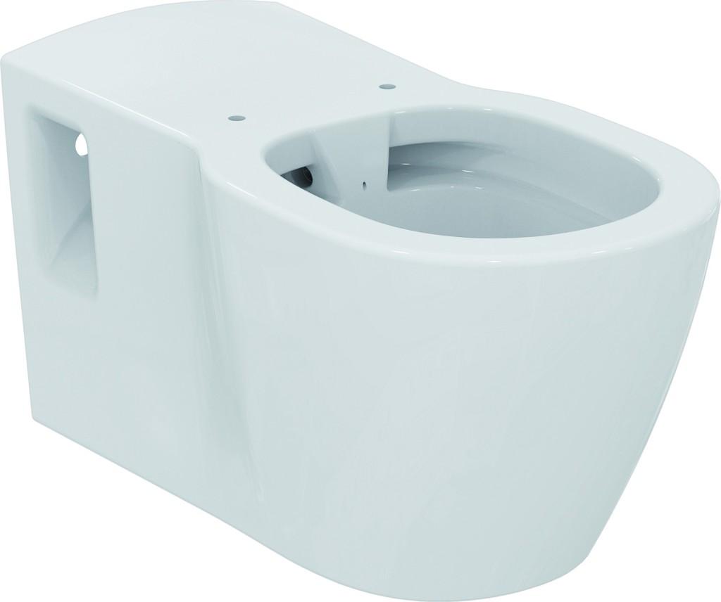 Ideal Standard Connect Freedom Závěsný klozet pro tělesně postižené 360 x 385 x 700 mm RIMLESS (bez splachovacího kruhu), bílá s Ideal plus E8194MA