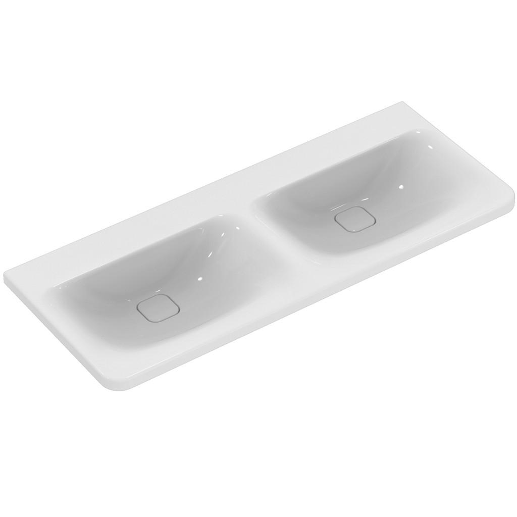 Ideal Standard Nábytkové dvojumyvadlo 1215 x 490 x 170 mm (bez otvoru), pro kombinaci s umyvadlovou skříňkou Tonic II, bílá K087101