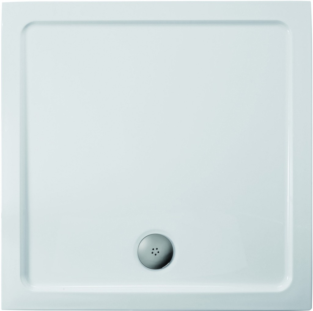 Ideal Standard Simplicity Stone Sprchová vanička litý mramor 1010 x 1010 mm, bílá L504601