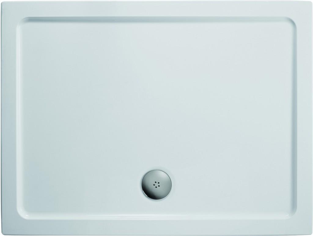 Ideal Standard Simplicity Stone Sprchová vanička litý mramor 1010 x 810 mm, bílá L504901