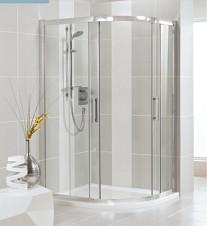 Ideal Standard Synergy Sprchový kout čtvrtkruhový 90 x 90 cm, silver bright (lesklá stříbrná) L6383EO