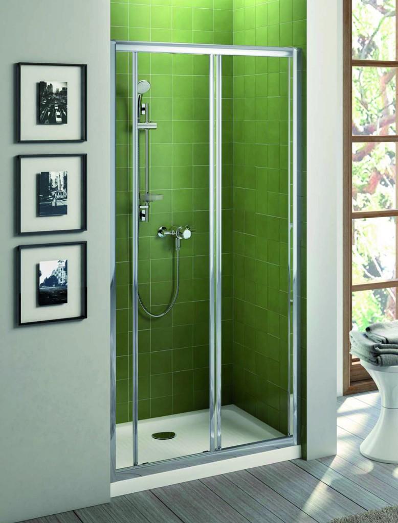 Ideal Standard Connect Sprchové dveře posuvné (2-dílné) 120 cm - čiré sklo, silver bright (lesklá stříbrná) T9884EO