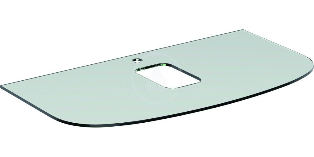 Ideal Standard Dea Vrchní skleněná deska 1000 x 10 x 540 mm, s otvorem pro baterii (pod umyvadlo T0443), bílá T7868SA