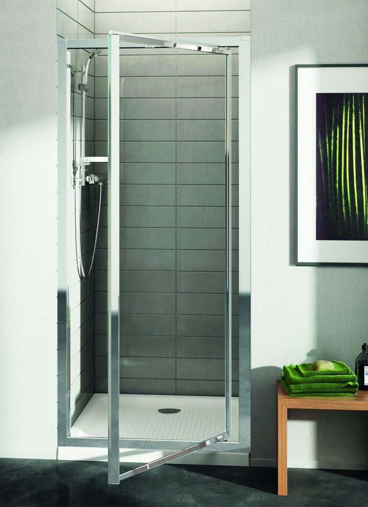 Ideal Standard Connect Sprchové dveře pivotové 90 cm - matné sklo, silver bright (lesklá stříbrná) T9844EO