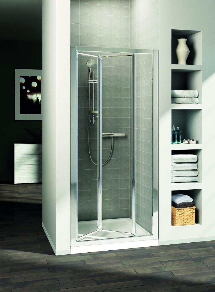 Ideal Standard Connect Sprchové dveře skládací 80 cm - matné sklo, silver bright (lesklá stříbrná) T9860EO