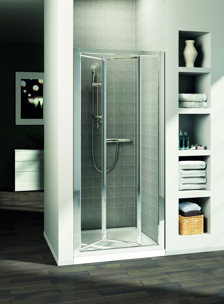 Ideal Standard Connect Sprchové dveře skládací 90 cm - matné sklo, silver bright (lesklá stříbrná) T9862EO