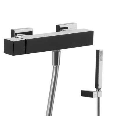 TRES - Jednopáková sprchová baterie Ruční sprcha s nastavitelným držákem, proti usaz. vod. kamene (607167)