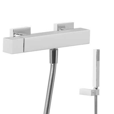 TRES - Jednopáková sprchová baterie Ruční sprcha s nastavitelným držákem, proti usaz. vod. kamene (407167)