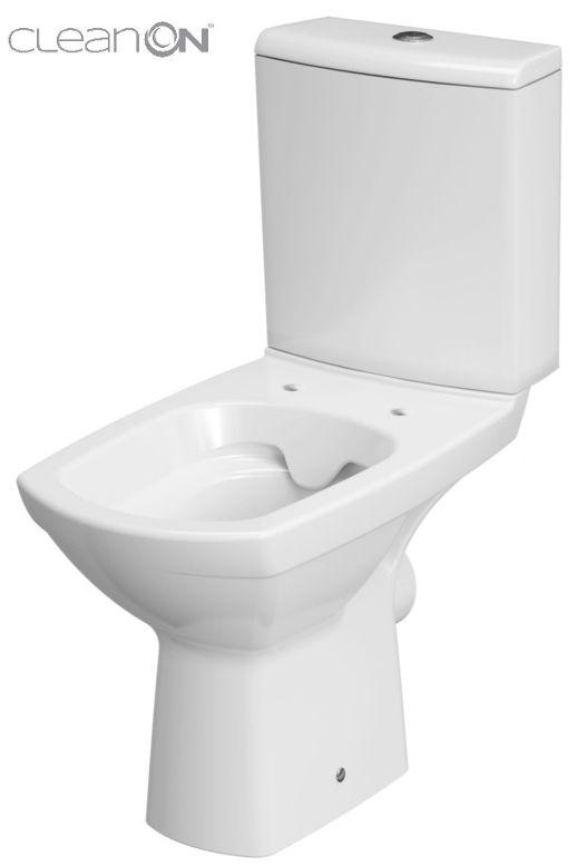 CERSANIT - WC KOMBI CARINA NEW 480 CLEAN ON 010 3/6 BEZ SEDÁTKA (K31-045)