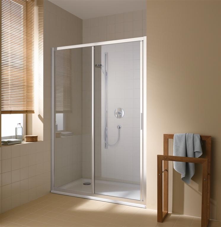 KERMI - Cada XS 2-dílné posuvné dveře s pevným polem vlevo šířka 1300 mm výška 2000 mm ( CCG2L130202PK )