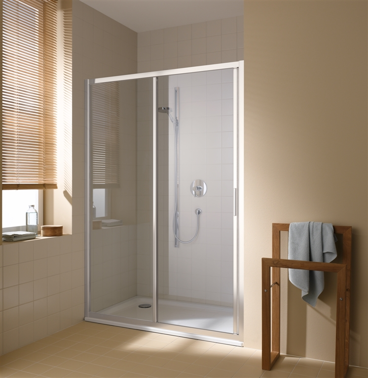 KERMI - Cada XS 2-dílné posuvné dveře s pevným polem vlevo šířka 1100 mm výška 2000 mm ( CCG2L11020VPK )