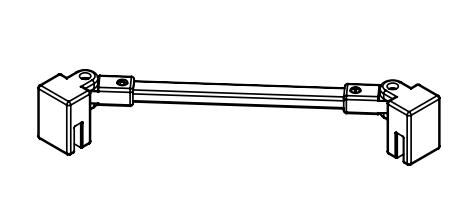 Kermi Stabilizátor Cada XS SSVSW Länge 500 mm bílá (ZDSSVSWCC0502K)