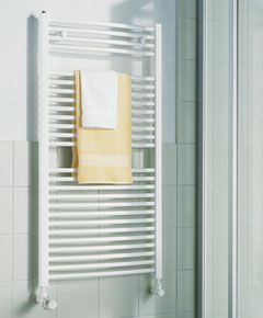 KERMI - LR0101200502XXK / B-20 R, koupelnový radiátor zahnutý 1200x500mm, bílá