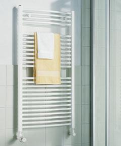 KERMI - LR0101500452XXK / B-20 R, koupelnový radiátor zahnutý 1500x450mm, bílá